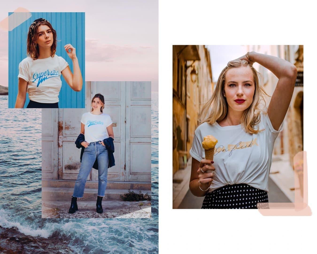 Studio Kelime T-shirt Mode Femme Superstar et On Fleek