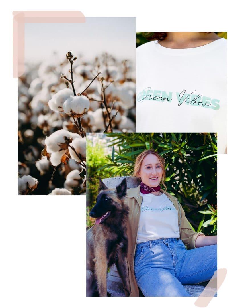 Studio Kelime Tee-shirt Femme coton biologique Green Vibes
