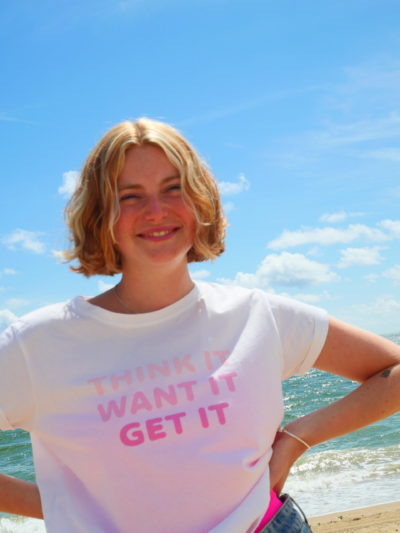 Tee-shirt Think it Want it Get it Studio Kelime