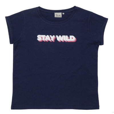 Tee-shirt Studio Kelime STAY WILD Dark blue