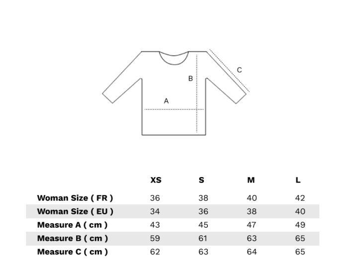 Choisir sa taille tee shirt manches longues col v
