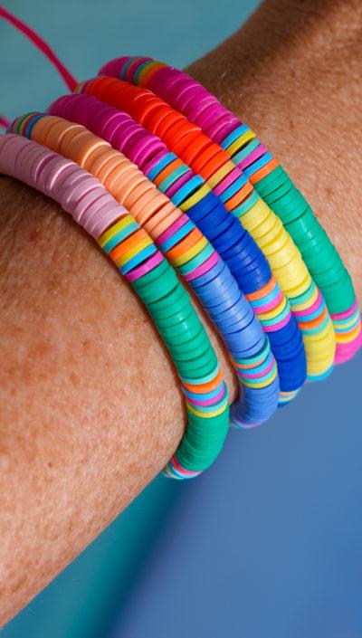 Collection de bracelets heishi beads Studio Kelime
