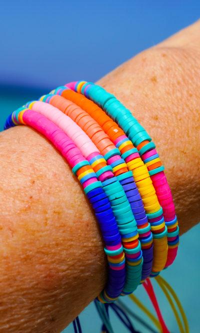 Collection bracelets Stay Wild heishi beads Studio Kelime